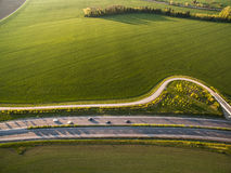 Aerial view of a highway Stock Image