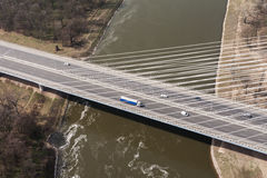 Aerial view of highway bridge. In Poland Royalty Free Stock Image