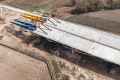 Aerial view of highway  construction site Royalty Free Stock Photography