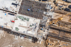 Aerial view of highway  construction site Royalty Free Stock Image