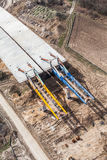 Aerial view of highway  construction site Royalty Free Stock Photo
