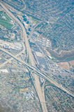 Aerial view of highway interchange los angeles Royalty Free Stock Photo