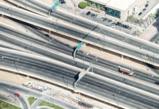 Aerial view of highway interchange of modern urban city Stock Photo