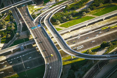 Aerial view of highway intersection in Dubai Stock Photography
