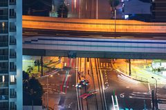 Aerial view of highway intersection in Osaka Royalty Free Stock Photography