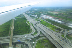 Aerial View of a Highway Royalty Free Stock Photography