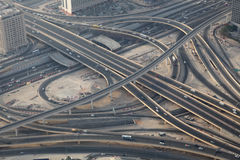 Aerial view of a highway junction Royalty Free Stock Photography