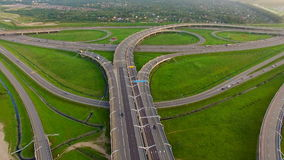 Aerial view of Highway Junction stock video footage