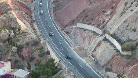 Aerial view of a highway stock video footage