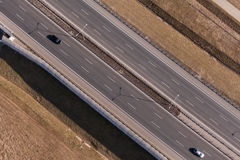 Aerial view of highway Stock Images