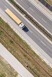 Aerial view of highway royalty free stock photography