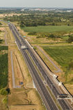 Aerial view of the highway in Poland Stock Images