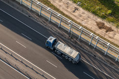 Aerial view of the highway in Poland Stock Photography