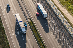 Aerial view of the highway in Poland Stock Photo