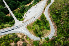 Aerial view of highway in Spain Stock Photos