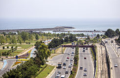 Aerial View of Highway to Samsun Royalty Free Stock Photography