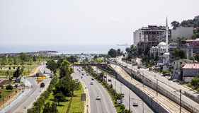 Aerial View of Highway to Samsun Stock Photography