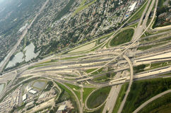 Aerial view of highways Stock Photography