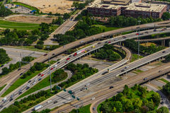 Aerial view of highways Royalty Free Stock Photo