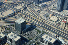 Aerial view of highways Royalty Free Stock Images