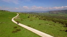 Aerial View Of The Hilly Terrain stock footage