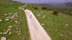 Aerial View Of Hilly Terrain stock video