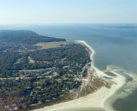 Aerial view of Hilton Head Stock Photo