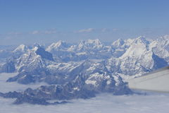 Aerial view of Himalaya Royalty Free Stock Images