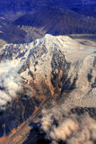 Aerial view of Himalayas  Stock Photo