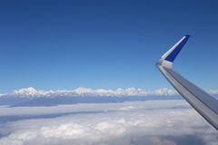 Aerial view at Himalayas Stock Images