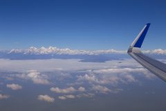 Aerial view at Himalayas Stock Photo
