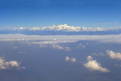 Aerial view at Himalayas Stock Image