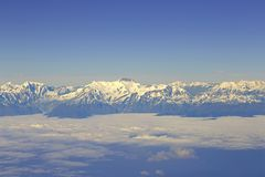 Aerial view at Himalayas Royalty Free Stock Image