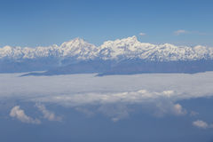 Aerial view at Himalayas Stock Photography