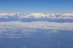 Aerial view at Himalayas Royalty Free Stock Images