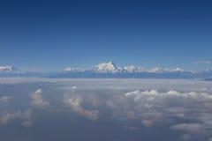 Aerial view at Himalayas Royalty Free Stock Photo