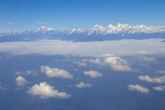 Aerial view at Himalayas Stock Photo