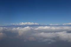 Aerial view at Himalayas Royalty Free Stock Photography