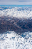 Aerial view of himalayas in northern India Royalty Free Stock Photography