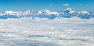 Aerial view of himalayas range Stock Photos