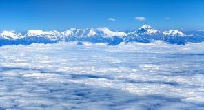 Aerial view of himalayas range - Dhaulagiri Himal. Nepal royalty free stock photos
