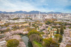 Aerial view of Himeji city Royalty Free Stock Photos