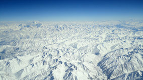 Aerial View of Himilaya Mountain Range 39,000. Aerial photograph of the Himalayan Mountain range near the Pakistan-China border at 39,000 feet. Makes a great Royalty Free Stock Photography
