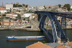 Aerial view of historic center of the city Porto  Royalty Free Stock Photography