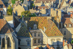Aerial view of the historic center of Dijon Royalty Free Stock Photography