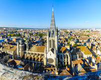 Aerial view of the historic center of Dijon Stock Images