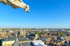 Aerial view of the historic center of Dijon Royalty Free Stock Photos