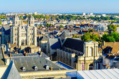 Aerial view of the historic center of Dijon Royalty Free Stock Image