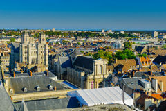 Aerial view of the historic center of Dijon Royalty Free Stock Photo