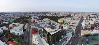 Aerial view of the historic center of Kiev Stock Image